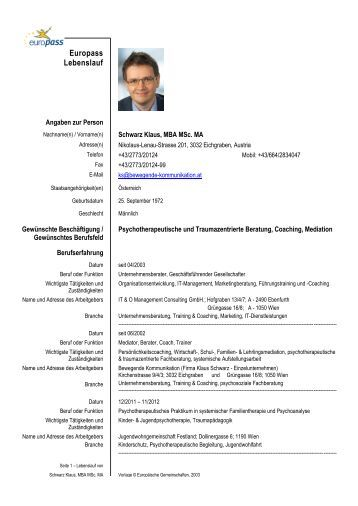 europass lebenslauf mediationat europass lebenslauf deutsch muster lebenslauf - Modell Lebenslauf