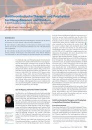 Antithrombotische Therapie und Prophylaxe bei Neugeborenen und ...