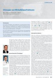 Chirurgie von Wirbelkörperfrakturen - Swiss Medical Forum