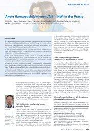 Akute Harnwegsinfektionen, Teil 1: HWI in der Praxis - Swiss ...