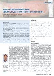 Haut- und Weichteilinfektionen: Zellulitis, Erysipel und ...