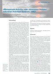 «Menopausale Arthritis» oder «Aromatase-Inhibitor- induziertes ...