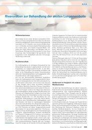 Rivaroxaban zur Behandlung der akuten Lungenembolie - Swiss ...