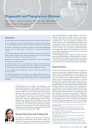 Diagnostik und Therapie von Gliomen - Swiss Medical Forum