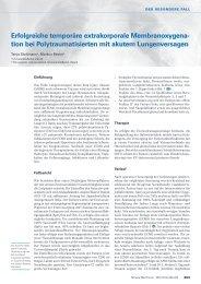 Erfolgreiche temporäre extrakorporale Membranoxygena- tion bei ...