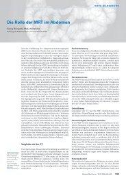 Die Rolle der MRT im Abdomen - Swiss Medical Forum