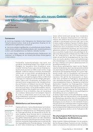 Immuno-Metabolismus: ein neues Gebiet mit klinischen Konsequenzen ...
