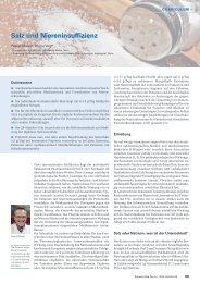 Salz und Niereninsuffizienz - Swiss Medical Forum