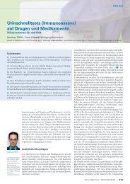 Urinschnelltests (Immunoassays) auf Drogen und Medikamente - Swiss ...