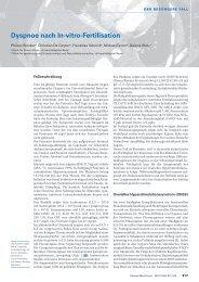 Dyspnoe nach In-vitro-Fertilisation - Swiss Medical Forum