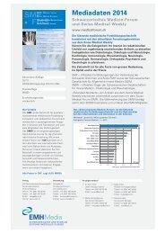 Mediadaten 2014 - Swiss Medical Forum