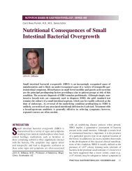 Nutritional Consequences of Small Intestinal Bacterial Overgrowth