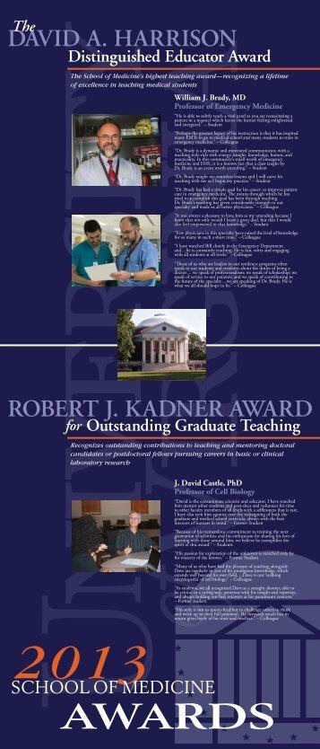 Award Poster - School of Medicine
