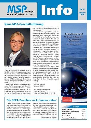 MSP Info Nr. 12 - MSP Medien Systempartner