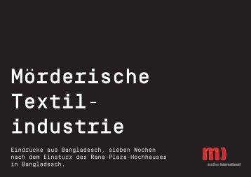 Mörderische Textilindustrie - Medico International