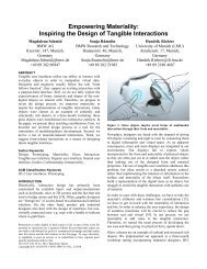 Empowering Materiality: Inspiring the Design of Tangible Interactions
