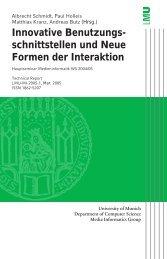 Innovative Benutzungsschnittstellen und Neue Formen der Interaktion