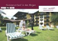 Sommerurlaub in den Bergen - Alpenresidenz Adler