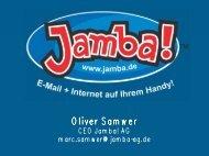 Mobile Internet - Beispiel Jamba!
