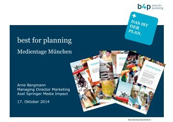 best for planning - Medientage München