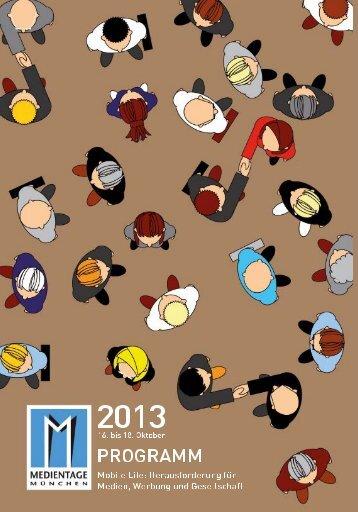 Das Kongressprogramm 2013 als PDF zum Download - Medientage ...