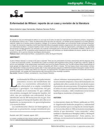 Enfermedad de Wilson: reporte de un caso y revisión de la literatura
