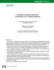 Linfangioma quístico abdominal. Experiencia en ... - edigraphic.com