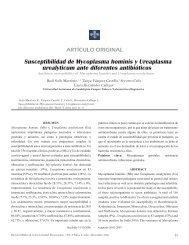 Susceptibilidad de Mycoplasma hominis y ... - edigraphic.com
