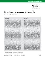 Reacciones adversas a la donación - edigraphic.com