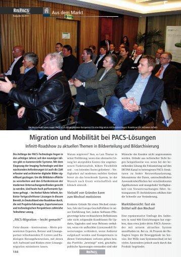 Migration und Mobilität bei PACS-Lösungen - Medizin-EDV