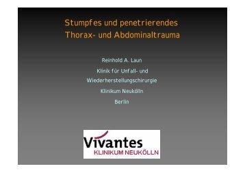 Stumpfes und penetrierendes Thorax- und Abdominaltrauma