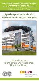 Harnblasenentleerungsstörung - Universität Halle - Martin-Luther ...