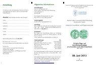 08. Juni 2013 - Medizinische Fakultät der Martin-Luther-Universität ...