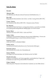 aktuelle Dissertationsprojekte - Medizinische Fakultät der Martin ...