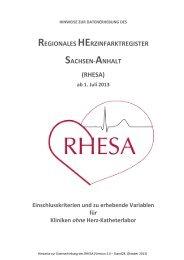 rhesa - Medizinische Fakultät der Martin-Luther-Universität Halle