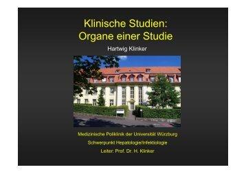 Organe einer Studie - Medizinischen Klinik und Poliklinik II