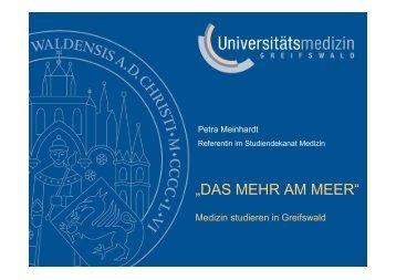 """""""DAS MEHR AM MEER"""" - in der Universitätsmedizin Greifswald"""