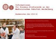 Informationsbroschüre für Erasmus-Bewerber - Medizinische ...