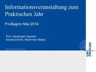 Informationsveranstaltung zum Praktischen Jahr - Medizinische ...