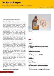 Ausgabe vom Dezember 2013 - Medizinische Fakultät der Martin ...