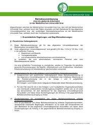 Betriebsvereinbarung gleitende Arbeitszeit - Medizinische ...