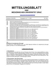 MITTEILUNGSBLATT - Medizinische Universität Graz