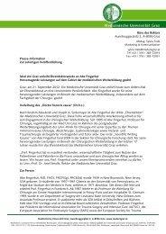 Presse-Information Zur sofortigen Veröffentlichung Med Uni Graz ...