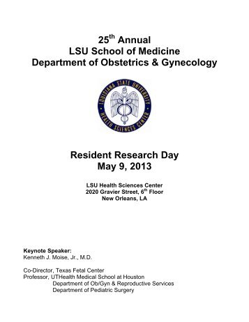 to see the 2013 Resident Research Day booklet - School of Medicine