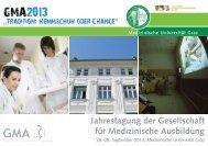 Jahrestagung der Gesellschaft für Medizinische Ausbildung