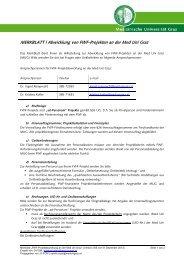 Merkblatt FWF - Medizinische Universität Graz