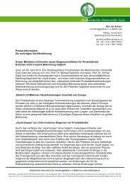 Presse-Information Zur sofortigen Veröffentlichung Grazer Mediziner ...