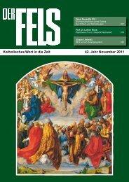 Katholisches Wort in die Zeit 42. Jahr November 2011 - Der Fels