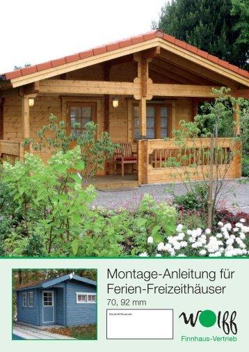 Montage-Anleitung für Ferien-Freizeithäuser - Mein-Gartenshop24.de