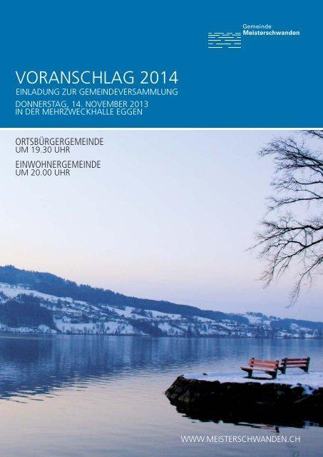 VORANSCHLAG 2014 - Meisterschwanden